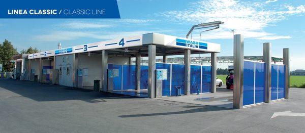 Sistem spalatorie self service cu 4 piste LINEA CLASSIC