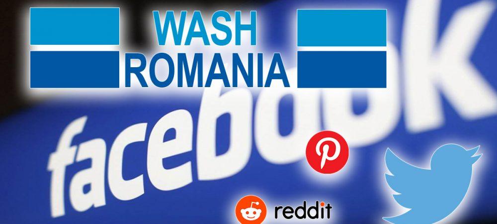 Wash Romania retele sociale