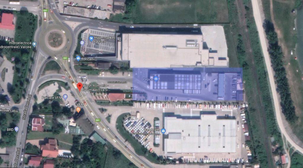 hala productie spalatorii Wash Italia vedere satelit