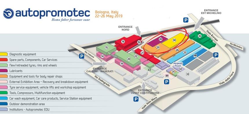 Organizarea standurilor expozitionale Autopromotec 2019